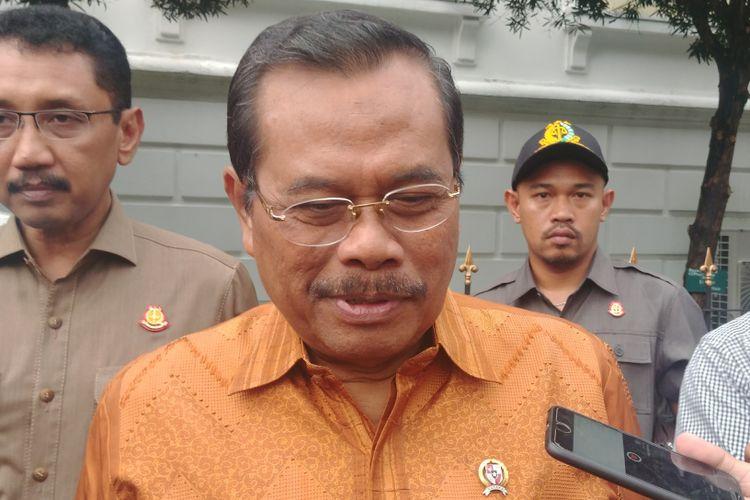 Jaksa Agung M Prasetyo di Istana Bogor, Rabu (18/4/2018).