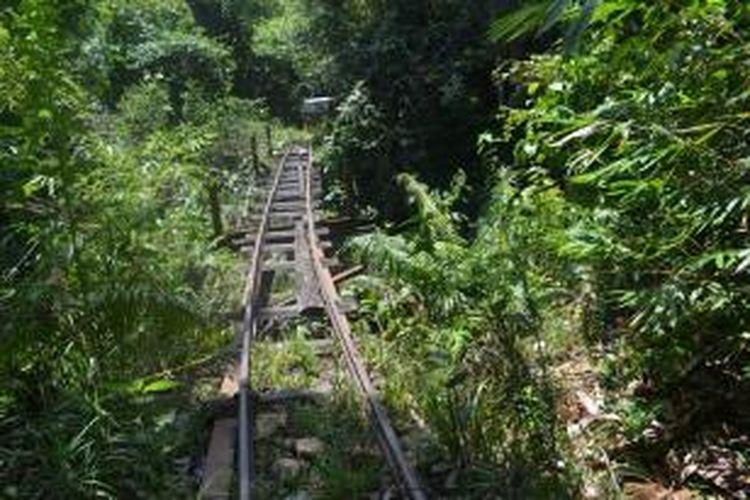 Jembatan yang harus dilintasi Si Molek di Bengkulu.
