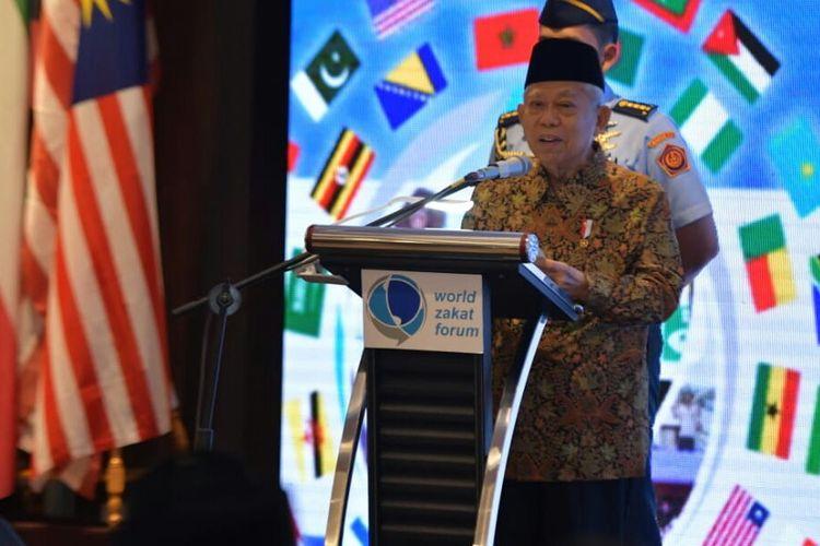 Wakil Presiden Maruf Amin membuk World Zakat Forum