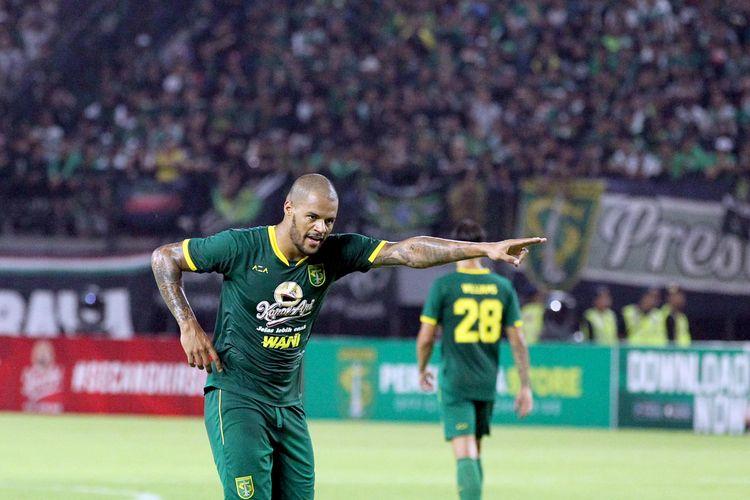 Pemain asing Persebaya Surabaya musim 2020, David da Silva.