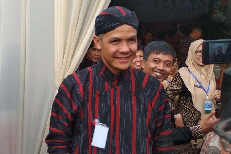 Gubernur Jawa Tengah Ganjar Pranowo usai menghadiri acara Murenbangwil eks Karesidenan Kedu di Pendopo Kabupaten Magelang, Jumat (15/3/2019) sore.