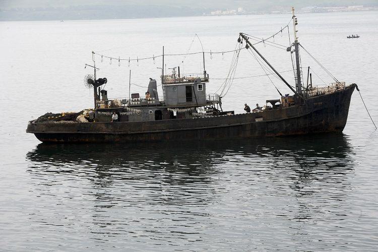 Kapal nelayan Korea Utara.