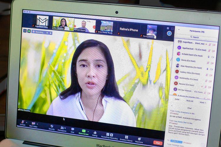 Magnifique dan Yayasan Dian Sastrowardoyo menggelar webinar gratis M-Class bertema Industri Film Nasional untuk para siswa di Jayapura, Papua, Jumat (18/9/2020).