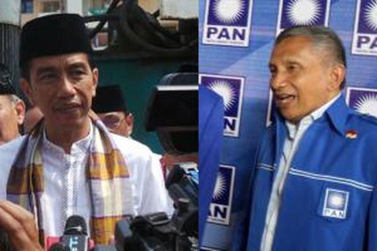 Gubernur DKI Jakarta Joko Widodo (kiri) dan Amien Rais