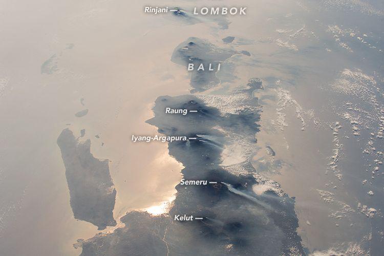 Astronot ISS memotret wilayah Jawa, Bali, dan Lombok