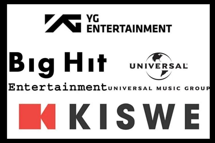 Logo sejumlah agensi hiburan di Korea Selatan.