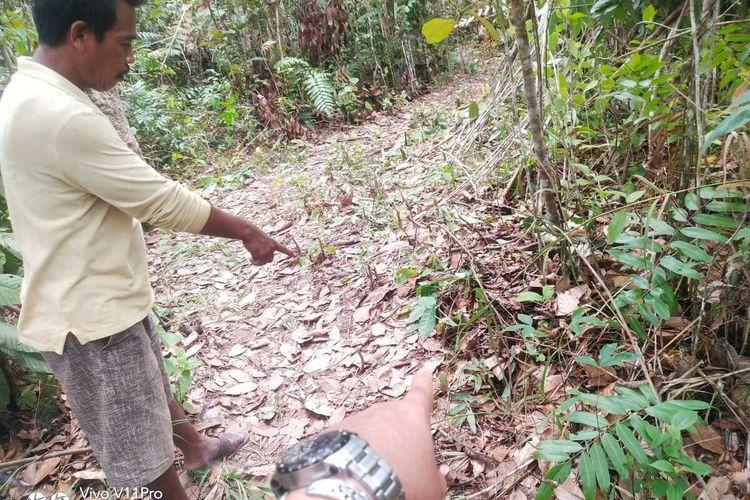 Lokasi ditemukannya IC bocah 10 tahun di Kecamatan Nibung, Kabupaten Musirawas Utara (Muratara), Sumatera Selatan.