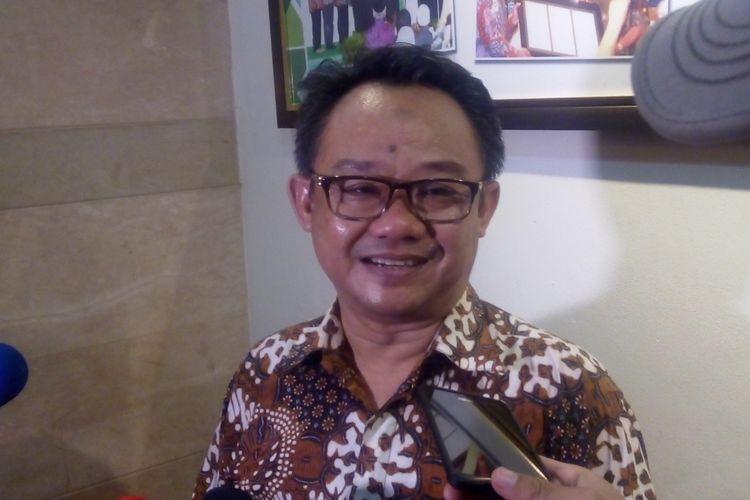 Sekretaris Jenderal PP Muhammadiyah Abdul Muti ditemui usai diskusi di kantor PBNU Jakarta, Jumat (19/5/2017).