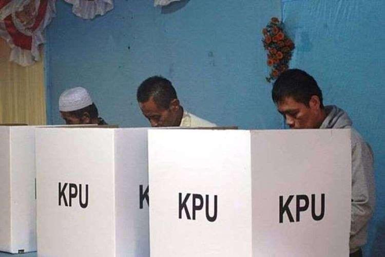 Pelaksanaan pemilu di Kabupaten Cianjur, Jawa Barat.