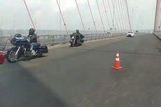 Rombongan Moge Melintas di Jalur Mobil Jembatan Suramadu, Tertangkap Kamera Petugas dan Mengaku Tak Tahu Peraturan