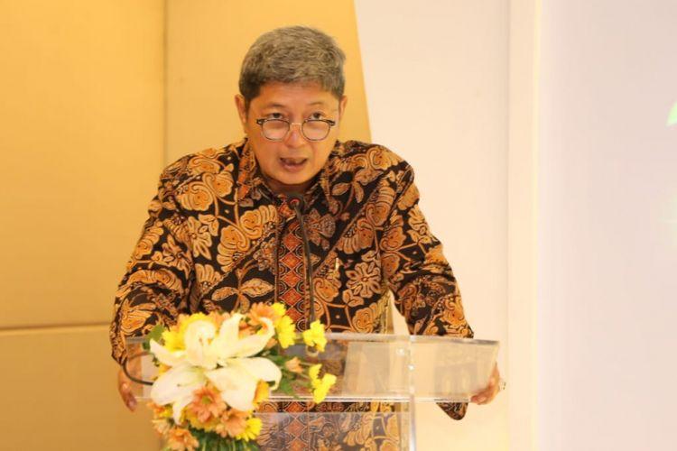 Deputi Gubernur Bank Indonesia Erwin Rijanto ketika memberikan paparan dalam Indonesia Sharia Economic Festival (ISEF) di Surabaya, Selasa (11/12/2018).