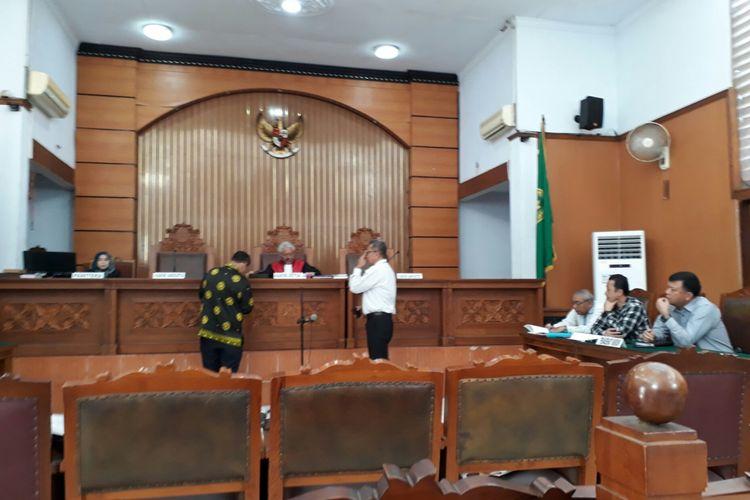 Suasana sidang praperadilan Hary Tanoe melawan Bareskrim Polri di Pengadilan Negeri Jakarta Selatan. Kamis (13/7/2017)