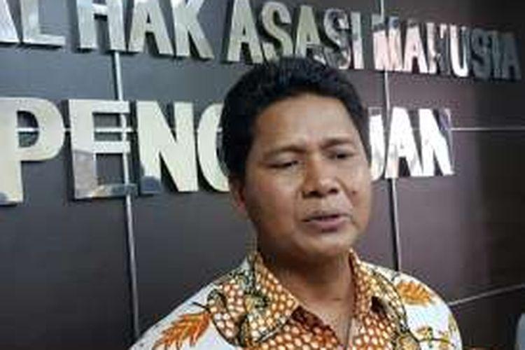 Ketua Komisi Nasional Hak Asasi Manusia (Komnas HAM) Imdadun Rahmat di kantornya, Jakarta Pusat, Senin (23/5/2016).