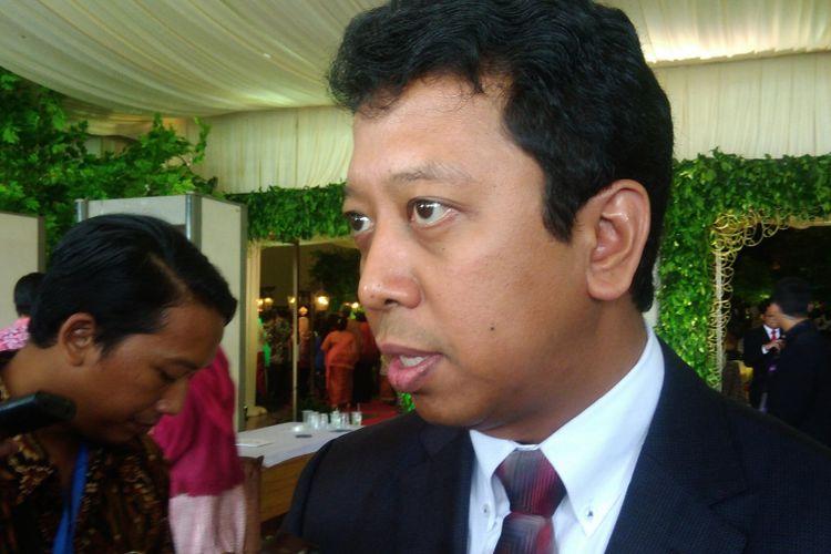 Ketua Umum Partai Persatuan Pembangunan (PPP) Romahurmuziy saat ditemui di JEC, Yogyakarta