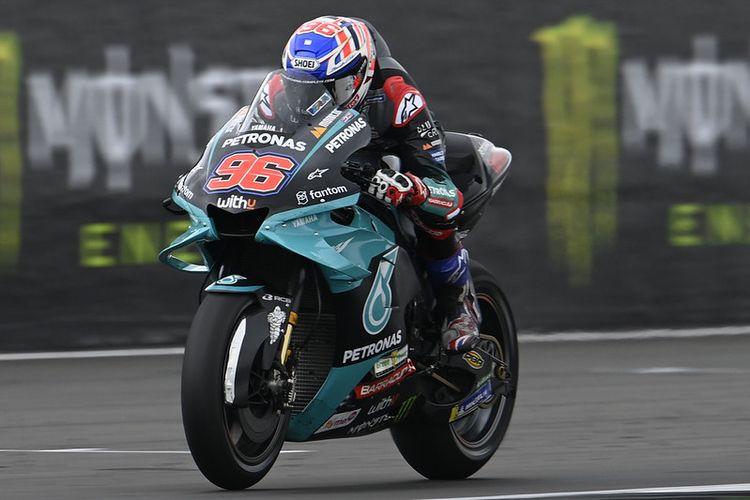 Jake Dixon saat menggantikan Franco Morbidelli pada MotoGP Inggris 2021