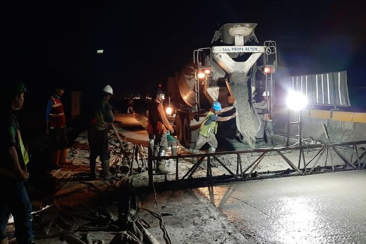 Jasa Marga kembali lakukan rekonstruksi rigid Simpang Susun (SS) Cikunir yang telah memasuki siklus ke-4
