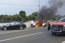 Nissan GT-R Terbakar di Tol Jagorawi, Jangan Lengah Saat Mengemudi