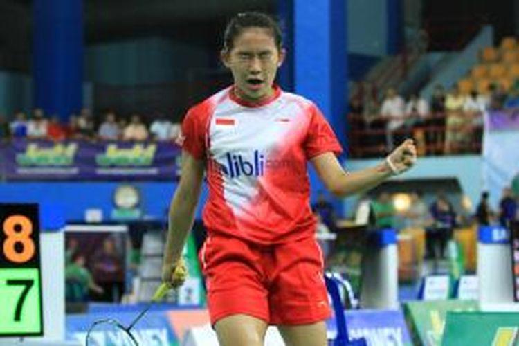 Pebulu tangkis yunior Indonesia nomor tunggal putri, Ruseli Hartawan.