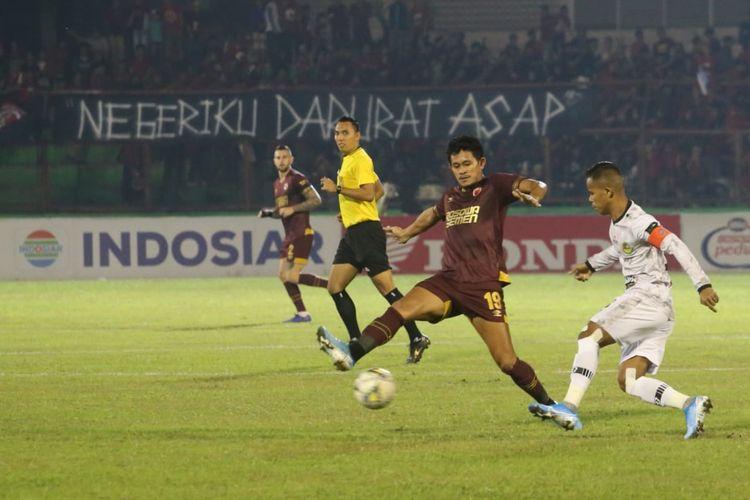 Laga pekan ke-19 Liga 1 2019 antara PSM Makassar vs PS Tira Persikabo, di Stadion Andi Mattalatta, Mattoangin, Makassar, Kamis (19/9/2019).
