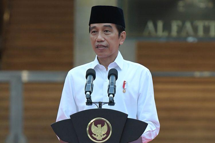 Presiden Joko Widodo meresmikan renovasi Masjid Istiqlal, Jakarta, Kamis (7/1/2021). Renovasi ini merupakan yang pertama sejak 42 tahun lalu, dengan menghabiskan waktu 14 bulan untuk merampungkan proses renovasi.
