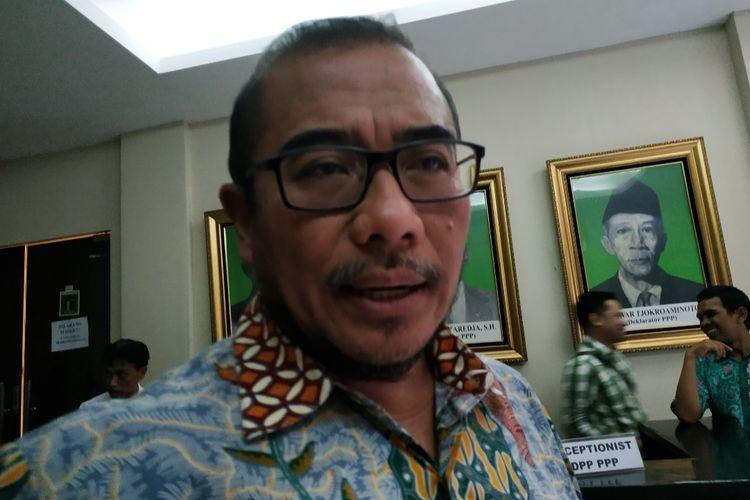 Komisioner KPU, Hasyim Asyari di Kantor DPP PPP, Cikini, Jakarta Pusat, Selasa (19/11/2019).