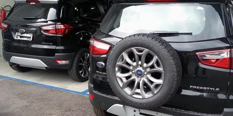 Modifikasi Ford EcoSport tanpa ban serep yang dilakukan pemilik di Brazil.