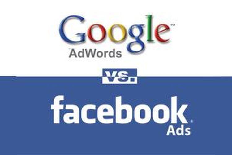 Ilustrasi Google AdWords vs. Facebook Ads