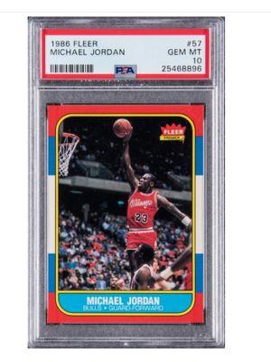 1986 Fleer #57 Michael Jordan Rookie Card