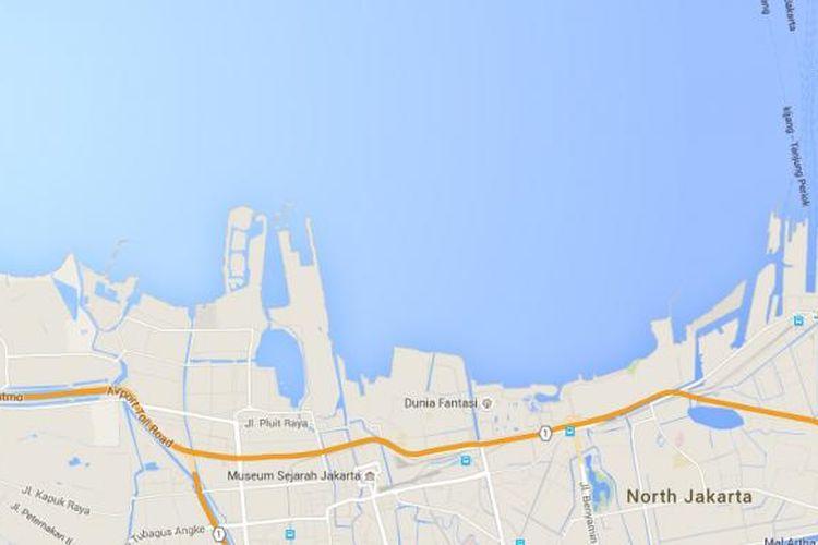 Peta pantai utara Jakarta