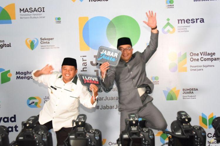 Gubernur Jabar Ridwan Kamil dan Wagub Jabar Uu Ruzhanul Ulum
