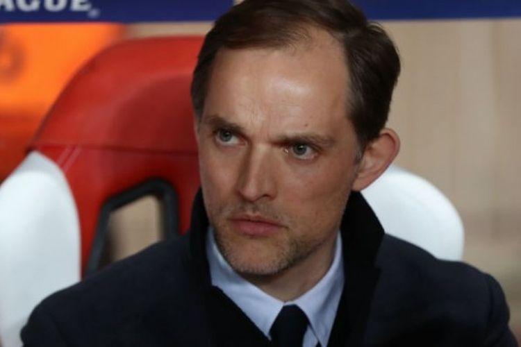 Thomas Tuchel saat masih menangani Pelatih Paris Saint-Germain.