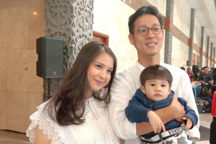 Putri Titian dan Junior Liem saat dijumpai di Jakarta Convention Center (JCC), Jakarta Pusat, Sabtu (22/12/2018).