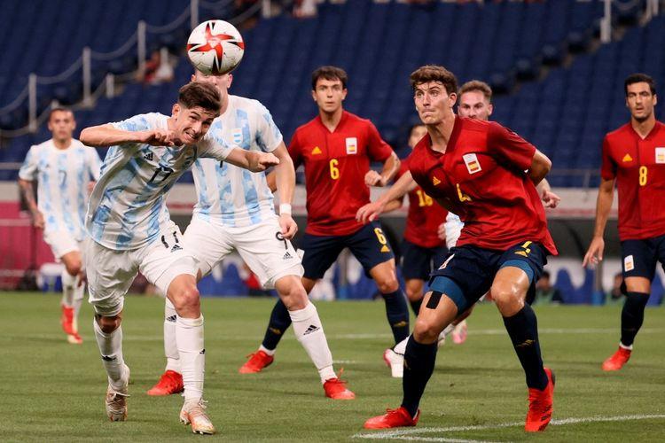 Pertandingan Spanyol vs Argentina pada laga pamungkas Grup C Olimpiade Tokyo 2020 di Stadion Saitama, Jepang, Rabu (28/7/2021) pukul 18.00 WIB.