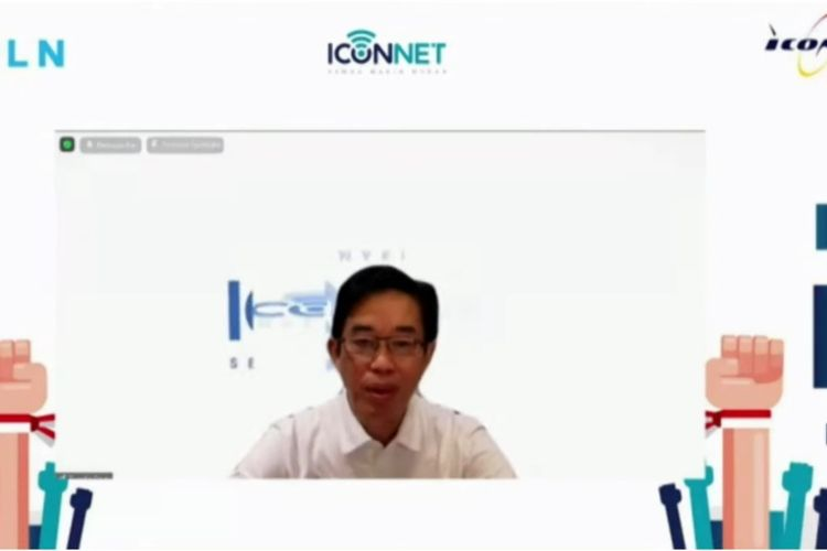 Dirut PLN Zulkifli Zaini dalam peluncuran Iconnet