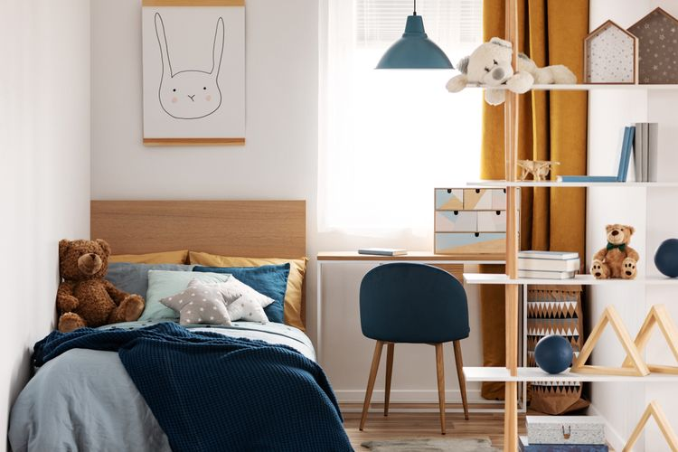 Ilustrasi kamar tidur anak.