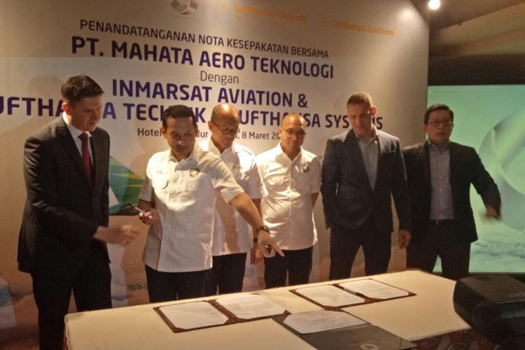 Kerja sama Citilink Indonesia dengan PT Mahata Aero (MAT) dan Lufthansa Technik serta Lufthansa System.