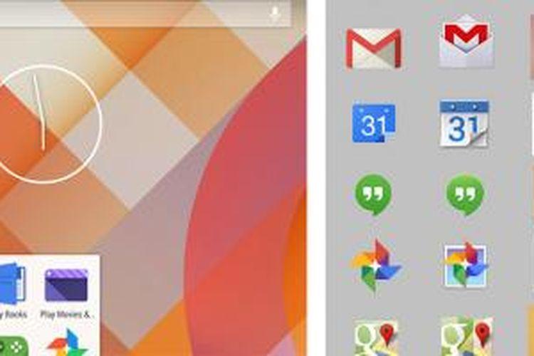 Gambar bocoran antarmuka sistem operasi Android 4.5