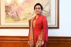 Cantiknya Sri Mulyani, Berbalut Kebaya Merah di HUT ke-74 RI