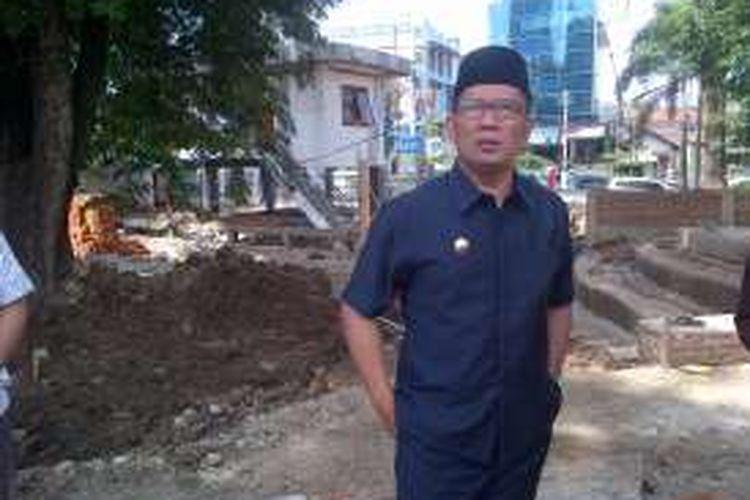 Wali Kota Bandung Ridwan Kamil saat ditemui wartawan di Balai Kota Bandung, Jalan Wastukancana, Senin (22/8/2016).