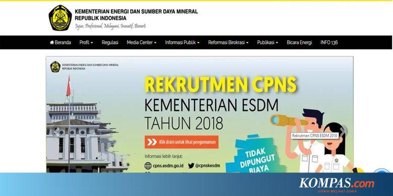 Kementerian Esdm Buka 65 Formasi Untuk Cpns 2018 Ini