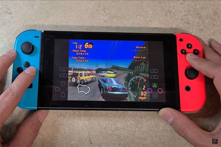 Menjalankan game PlayStation 1, Gran Turismo, di Nintendo Switch dengan emulator di Android