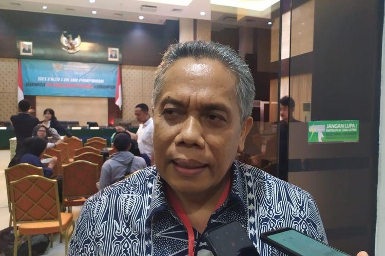 Pakar hukum pidana, Luhut Pangaribuan di Gedung Kementerian Sekretariat Negara, Selasa (27/8/2019).