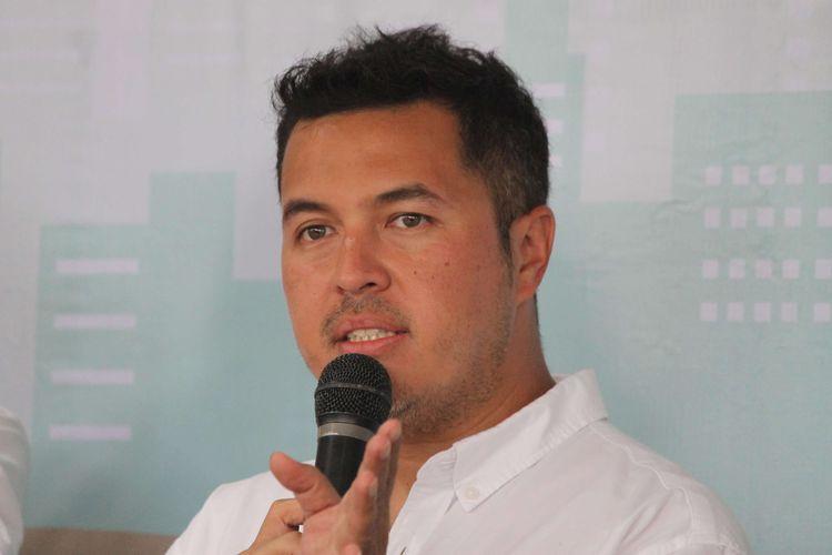 Rifat Sungkar pada acara Testimoni dan Talkshow bersama Public Figure di Jakarta Golf Club, Jakarta, Rabu (11/3/2020).