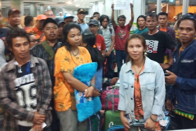 Foto// Perjalanan Rombongan Pengungsi Wamena Dari Makassar Menuju Poso Pada Kamis(17/10/2019)