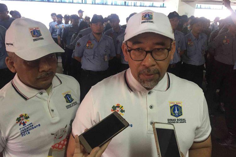 Sebanyak 425 personel  petugas pelayanan, pengawasan, dan pengendalian sosial (P3S) Dinas Sosial DKI Jakarta akan dikerahkan untuk menertibkan para penyandang masalah kesejahteraan sosial ( PMKS) di 284 titik di Jakarta selama Asian Games 2018 digellar.