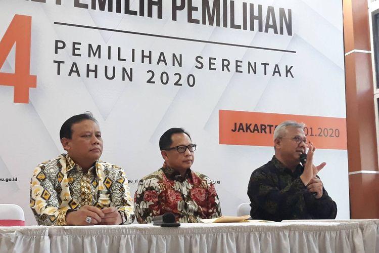 Penyerahan DP4 dari Kemendagri ke KPU di Gedung KPU, Jakarta Pusat, Kamis (23/1/2020).