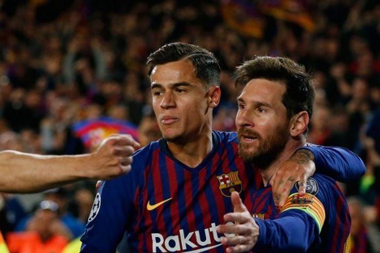 Pemain Barcelona, Philippe Coutinho dan Lionel Messi