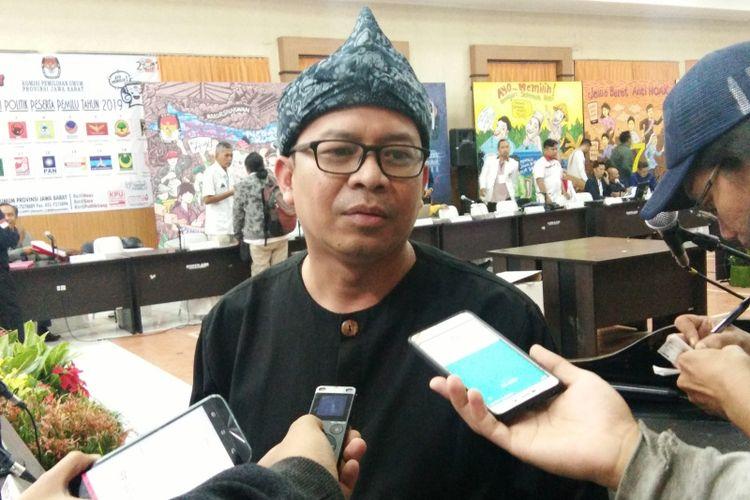 Ketua KPU Jabar Rifqi Alimubarok saat ditemui di Kantor KPU Jabar, Jalan Garut, Kamis (9/5/2019).