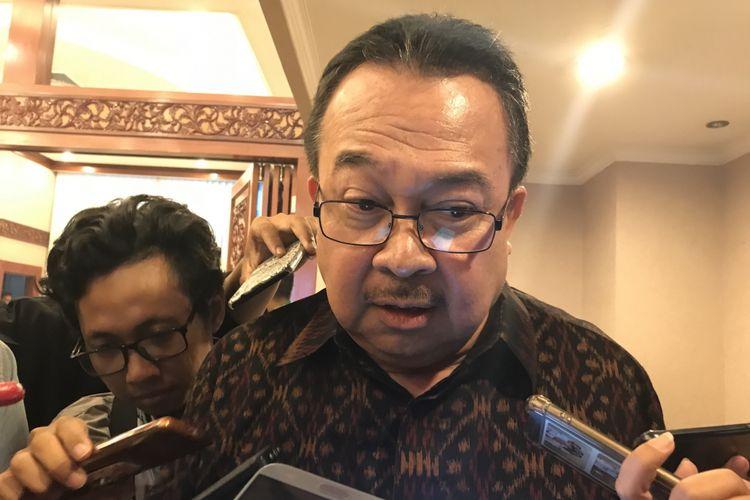 Guru Besar Manajemen Universitas Indonesia (UI) Rhenald Kasali di INTEGRA 2018 Kanton Kementerian Ketengakerjaan (Kemnaker), Senin (19/11/2018)