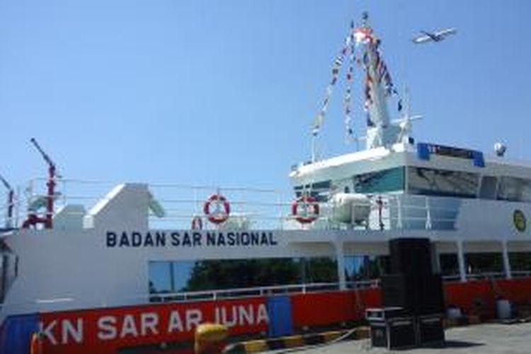 Kapal Negara SAR Arjuna nomor lambung 229 saat diresmikan operasionalnya di Pelabuhan Benoa